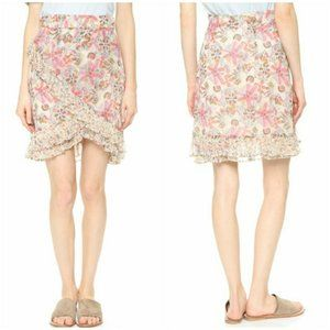 Free People Around The World Floral Ruffle Skirt 4